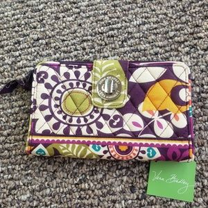 Vera Bradley Plum Crazy Turnlock Turn Lock Clutch